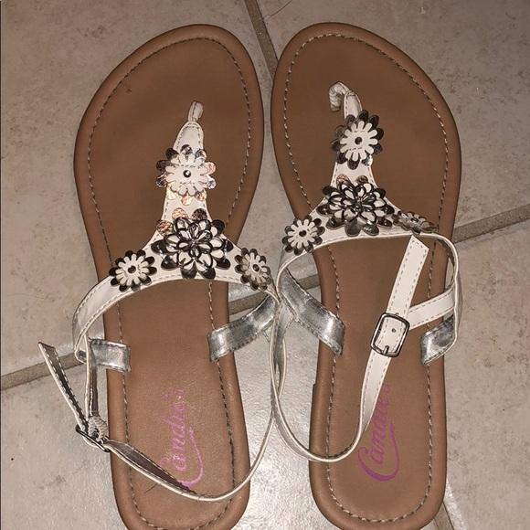 Shoes | Candies White Sandals | Poshmark